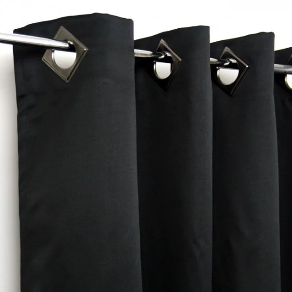 rideau occultant noir