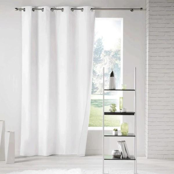 rideau isolant thermique blanc