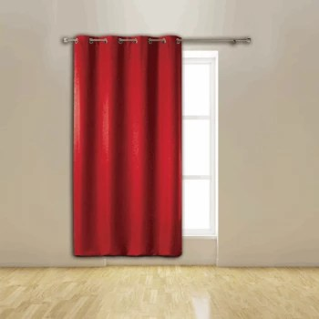 rideau occultant rouge isolant thermique
