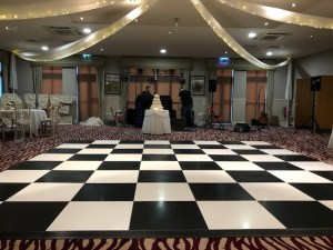 Black & White Chequered Dance Floor Hire
