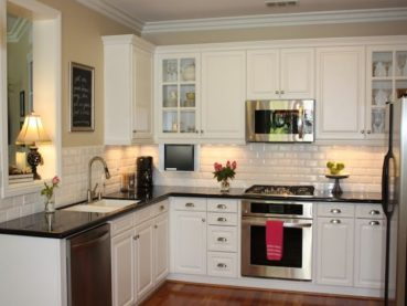 Cute Room Decor Ideas, Backsplash Ideas For Black Granite Countertops And White Cabinets Liberalx