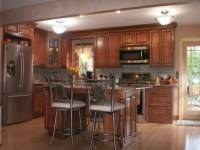 Brown Kitchen Cabinets Countertops Design Ideas