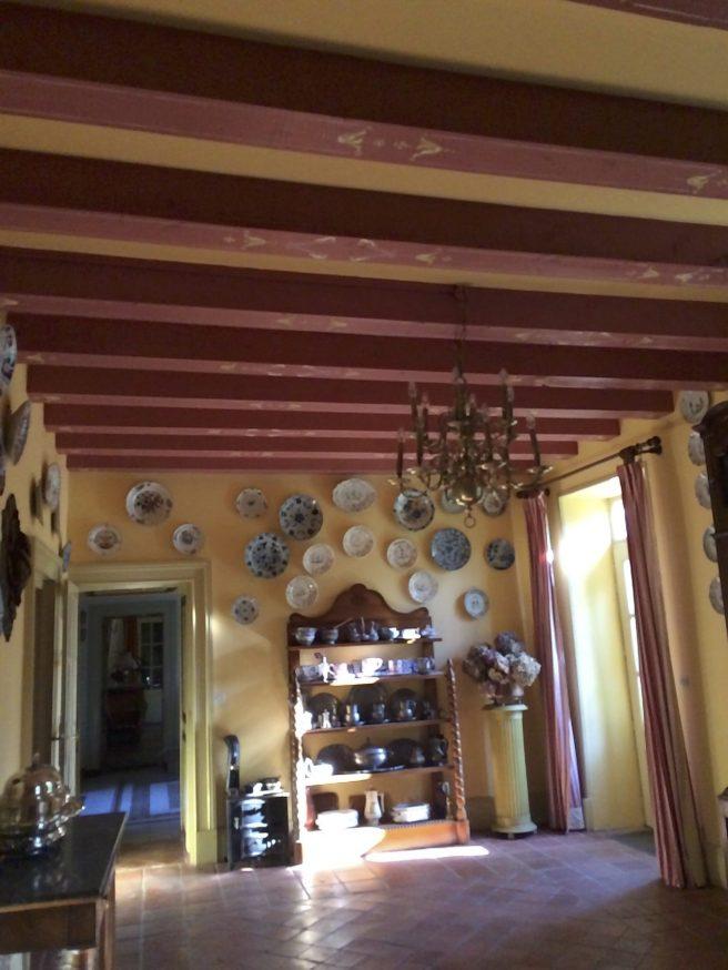Restauration de solives peintes