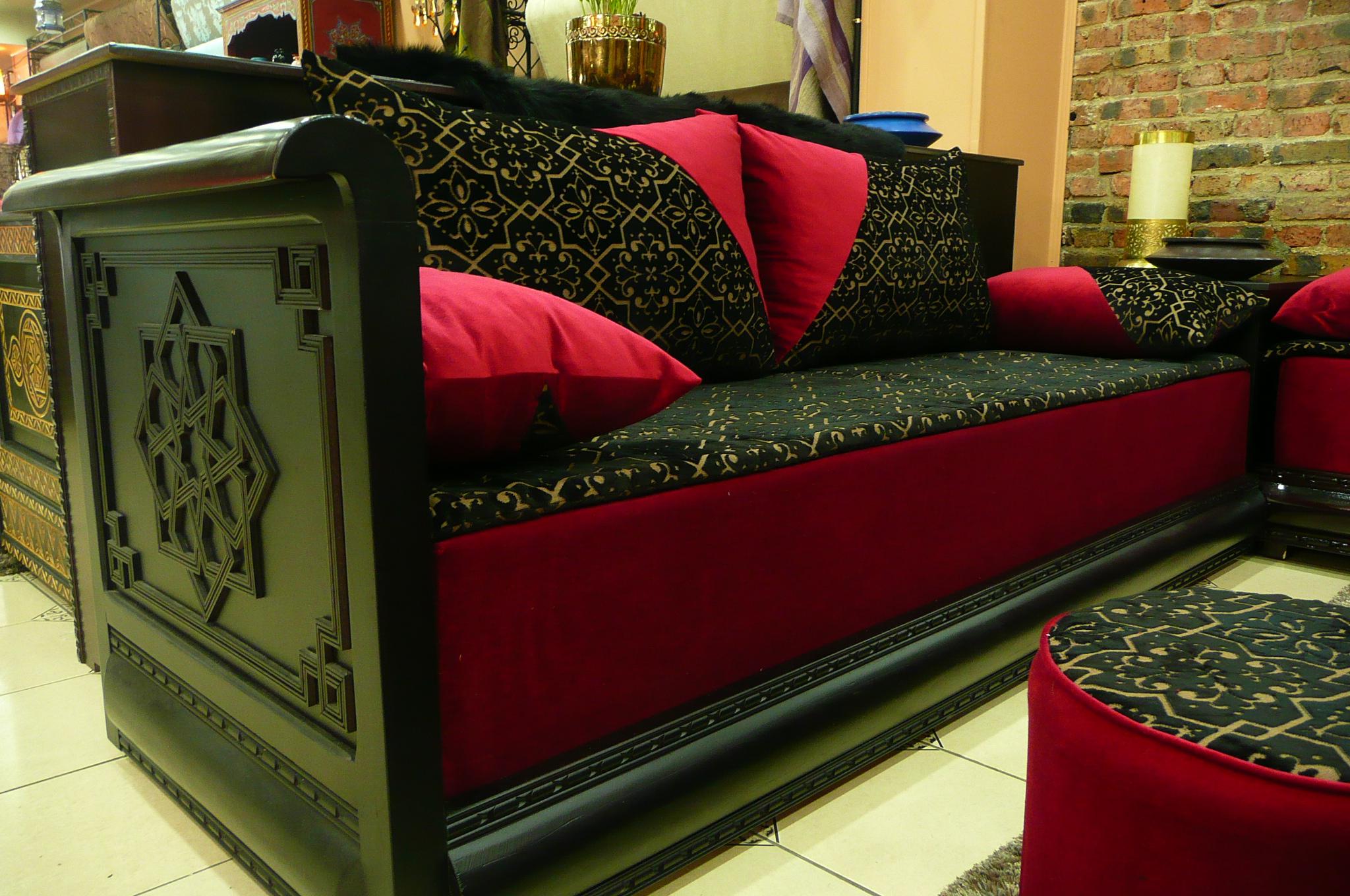 Canape Tissu Marron 3 Places - Design per la casa e idee per la ...