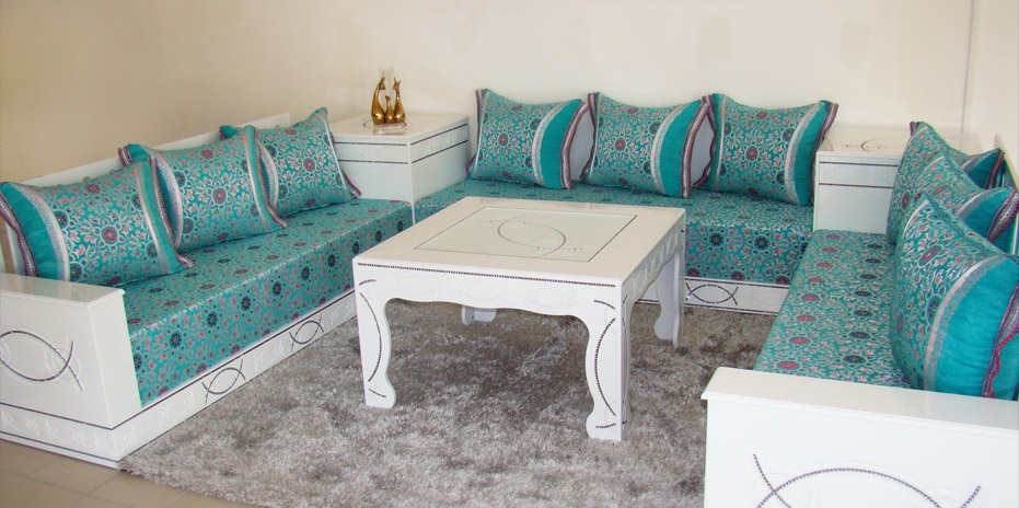 Couture de salon marocain sur mesure  Dcor salon marocain
