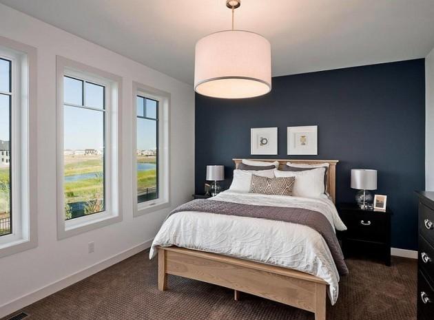 3d Fall Ceiling Wallpaper الاضاءة في غرف النوم باستخدام مصابيح معلقة لإضاءة أفضل
