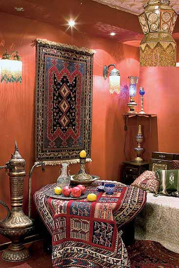 Moroccan Furniture Decorating Fabrics and Materials for Moroccan Decor