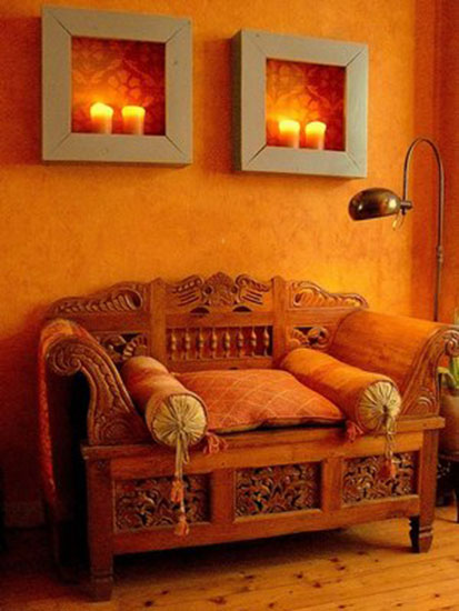 Wall Curtain And Colorful Cushions Made Of Natural Fabrics Are Traditional Moroccan Decor Accessories