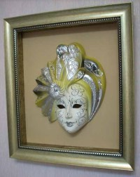 Modern Wall Decoration with Venetian Masks Made for a ...