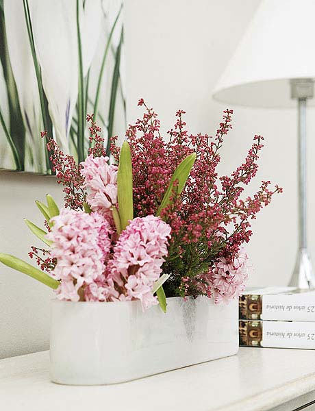 Heather Flower Arrangements Colorful Table Centerpiece Ideas