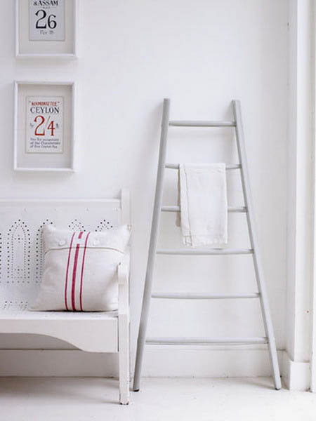 Interior Decorating With Wooden Ladders Creative Room Decor Ideas