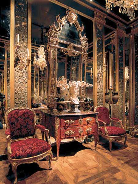 Modern Interior Design in Louis XV Style Luxurious Room
