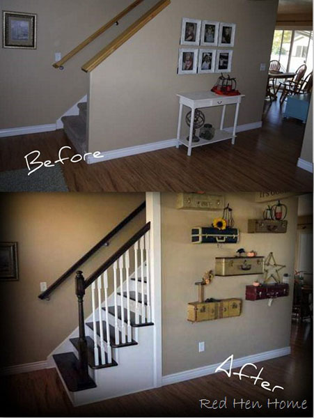 Recycling Old Suitcases for Wall Shelves Vintage Furniture
