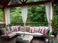 Outdoor Curtains for Porch and Patio Designs, 22 Summer ...