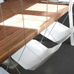 Hanging Chair For Bedroom Diy Step Stool Combo Playful Swing Table Design Adding Fun To Dining Room Decorating
