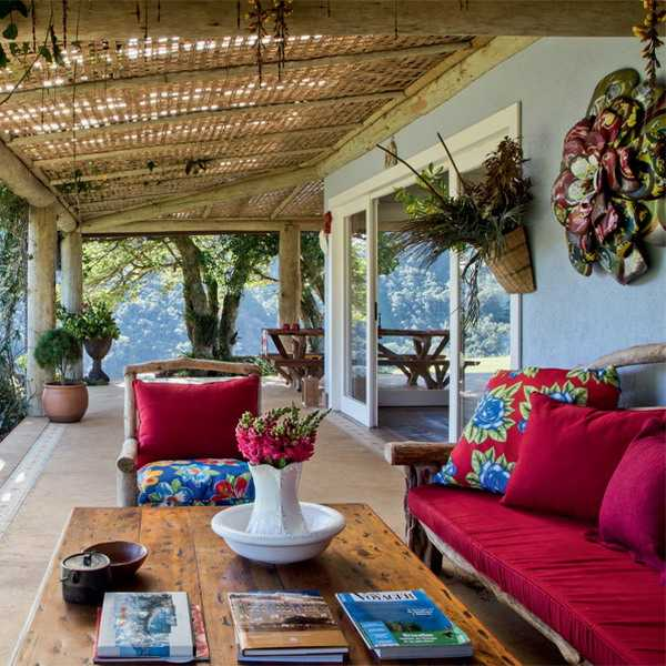 Brazilian Ethnic Interior Decorating Ideas Highlighting Traditional Motifs with Bright Colors
