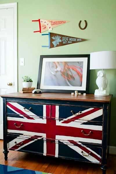 color schemes for living room with brown furniture large sets 30 patriotic decoration ideas, union jack themed decor in ...