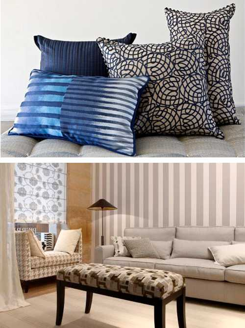 Modern Home Decorating Fabrics Bring Beautiful Colors And