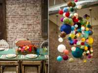 Colorful pompoms, Table and Wall Decor for Baby Shower ...