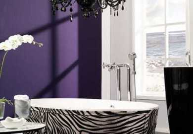 Purple And Zebra Bathroom Ideas