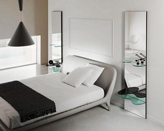 Wall mirror and 33 Contemporary Bedroom Decorating Tips