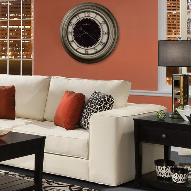 Make it a pretty pairing with pink · 5. 25 Ideas for Modern Interior Decorating with Large Wall Clocks