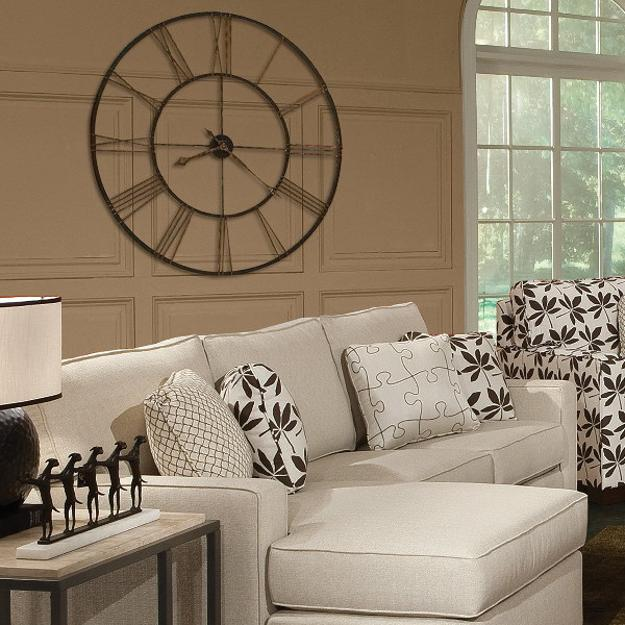 There are many ways to decorate. 25 Ideas for Modern Interior Decorating with Large Wall Clocks