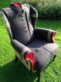 Recycling Wool Coats for Unique Furniture in Vintage Style ...