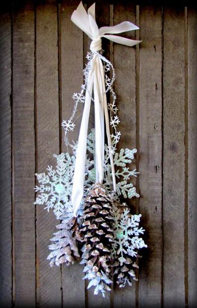 Black, white and purple bedrooms. 33 Ways to Use Snowflakes for Winter Home Decorating