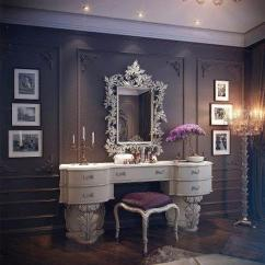Purple Makeup Vanity Chair Outdoor Butterfly 10 Inspiring Dressing Room Decorating Ideas In Vintage Style