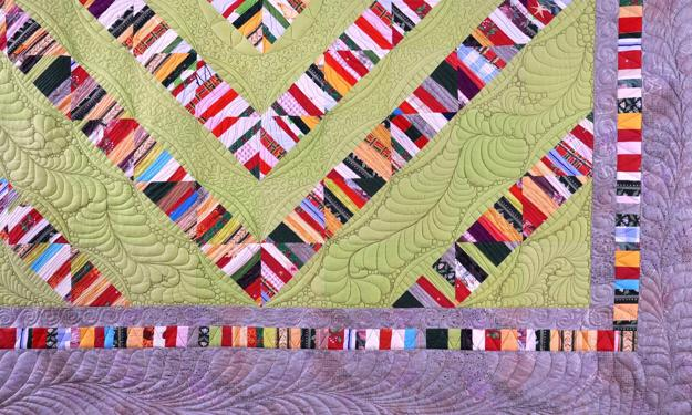 Colorful Contemporary Quilts with Unique Striped Patchwork
