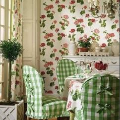 Chair Slipcovers Green Regency Dining Chairs Modern Interior Decorating Ideas Enhancing Country Style Decor With Vichy Check Fabric Patterns