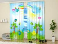 Custom Photo Curtains Adding Digital Prints to Kids Room ...