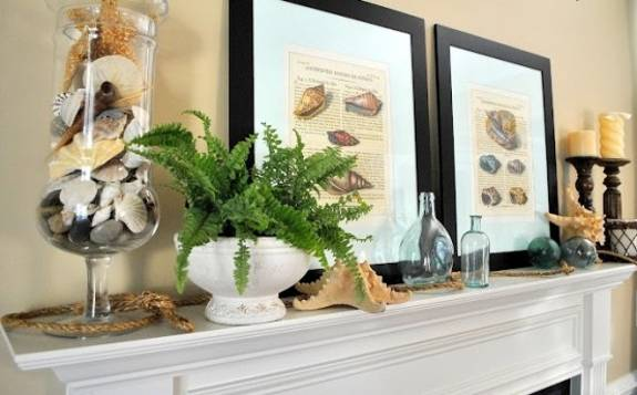 15 Creative Summer Decorating Ideas for Fireplace Mantels