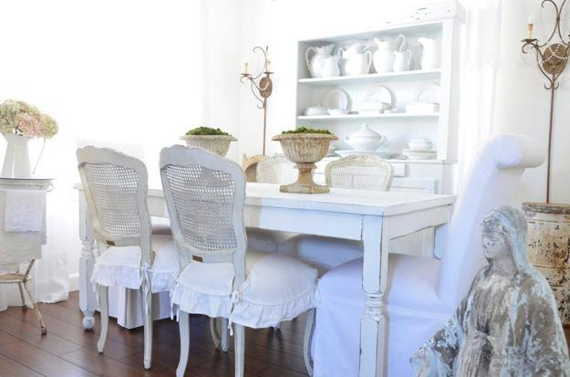 rustic dining room chair covers wood chairs mixing gray and brown colors with white decorating ideas, cozy shabby chic interiors