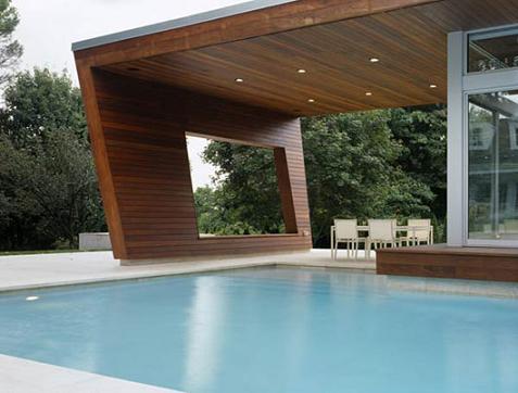 Casa con piscina minimalista for Casa minimalista con piscina
