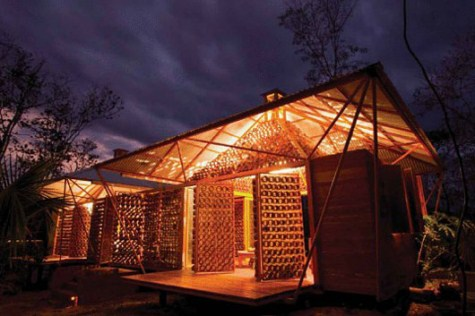 Casa de bamb en Costa Rica