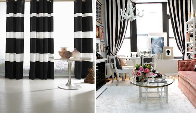 Decorar con rayas blancas y negras  Arquitectura  Diseo