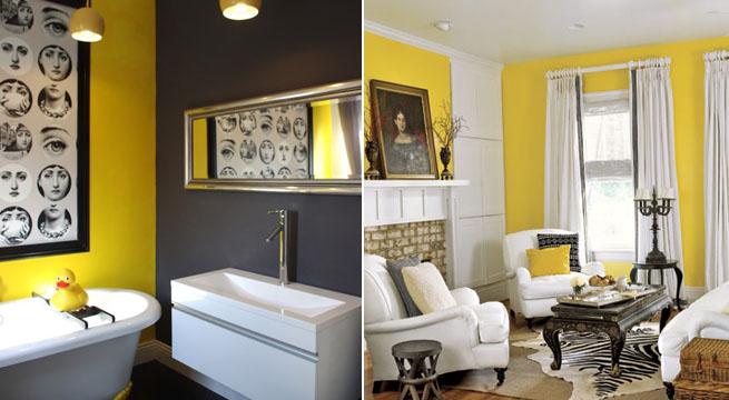 Decoracin en amarillo y negro
