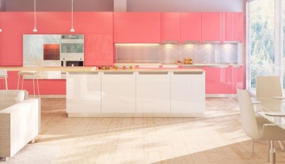 Cocinas de colores vivos - Cocinas azules y blancas ...