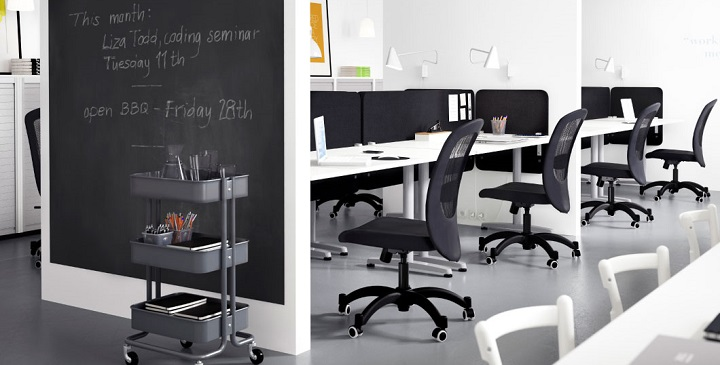Ideas de ikea para decorar despachos y oficinas - Espacios de trabajo ikea ...