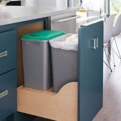 Kitchen Cabinets.com Floating Island Base Recycling Cabinet - Decora Cabinetry