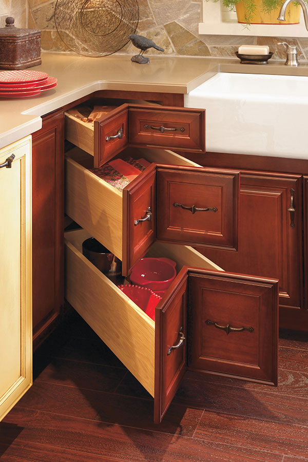 Corner Drawer Cabinet  Decora Cabinetry