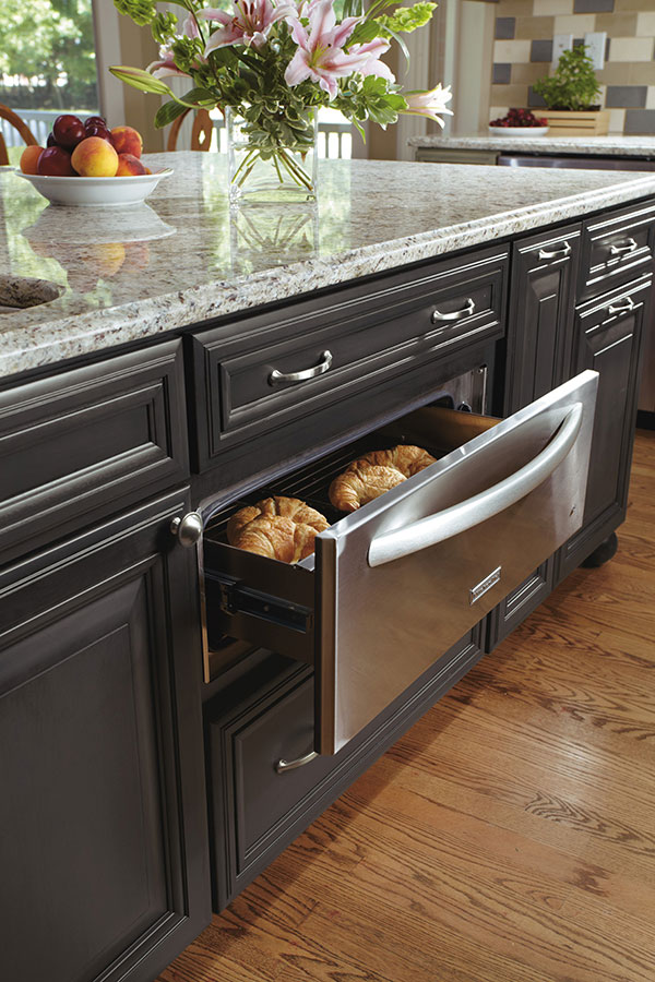 kitchen plates undermount sink installation warming drawer cabinet - decora cabinetry