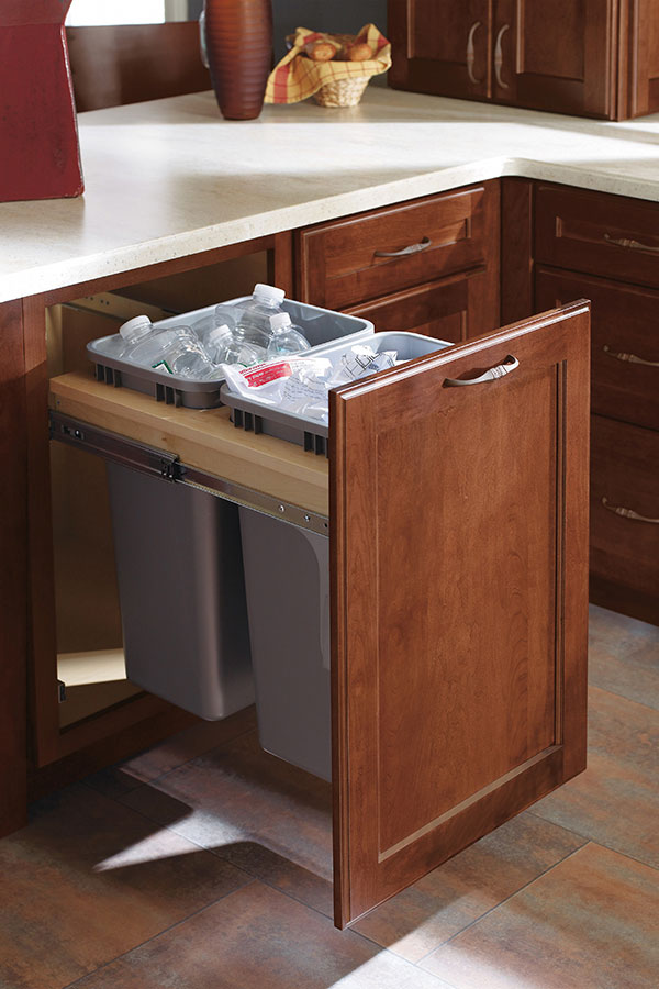 Full Height Double Trash Pull Out Cabinet  Decora