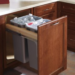 Best Kitchen Cabinets Clean Full Height Double Trash Pull Out Cabinet - Decora