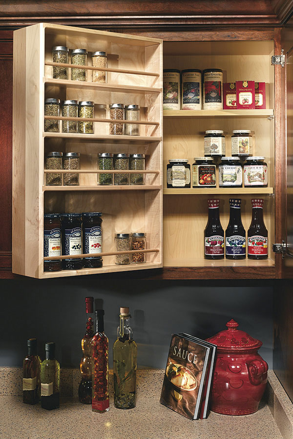 kitchen cabinets pantry how to decorate your wall swing out spice rack - decora cabinetry