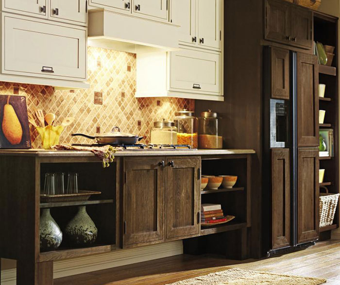 cherry wood cabinets kitchen broan exhaust fans mink cabinet stain on - decora cabinetry
