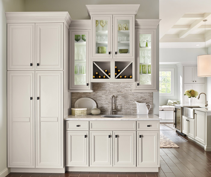 white kitchen cabinets cabinet hardware drawer slides off decora cabinetry wet bar area in with