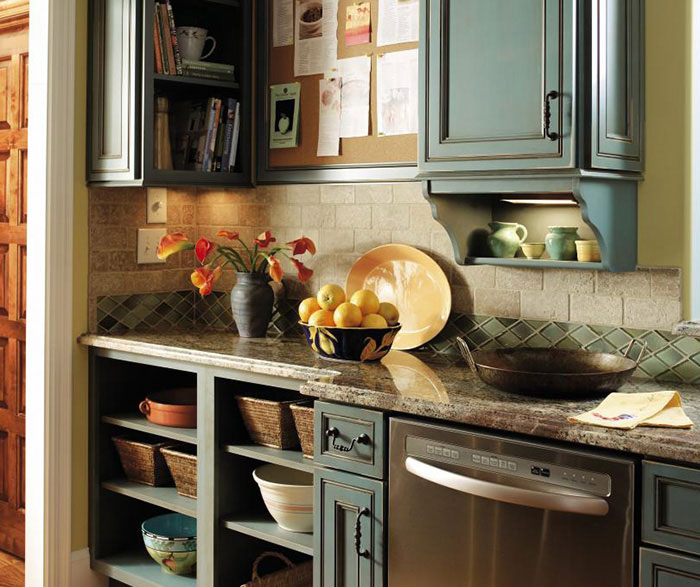 Turquoise Kitchen Cabinets Decora Cabinetry